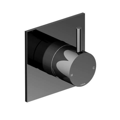 Hotbath Cobber CB031Q afbouwdeel douche mengkraan zwart chroom