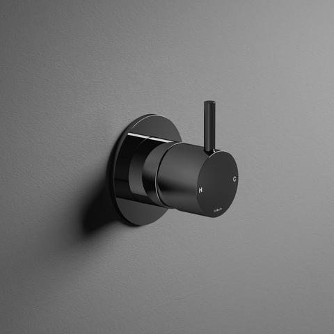 Hotbath Cobber CB031 inbouw mengkraan zwart chroom