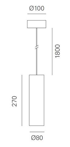 Blinq Tutto hanglamp 50w zwart incl ledlamp 2700k zwart