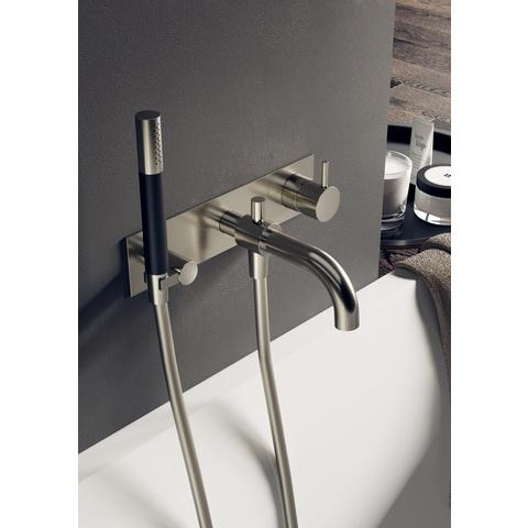 Hotbath Cobber CB026 afbouwdeel bad mengkraan met automatische omstelinrichting geborsteld nikkel