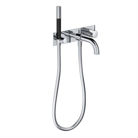 Hotbath Cobber CB026 inbouw badmengkraan met automatische omstelinrichting gepolijst messing PVD