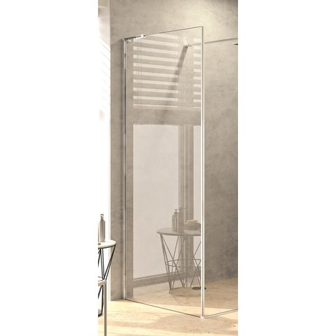 Blinq Tutto zijwand voor walk in 88,5-90x200 cm. black edition-timeless