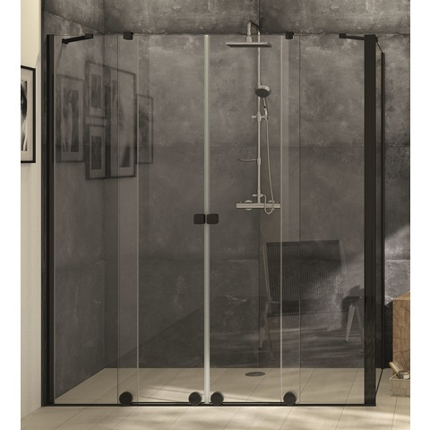Blinq Tutto zijwand voor schuifdeur 88,5-90x200 cm. black edition-timeless
