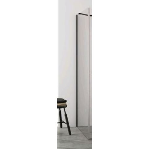 Blinq Tutto zijwand voor walk in 78,5-80x200 cm. black edition-timeless