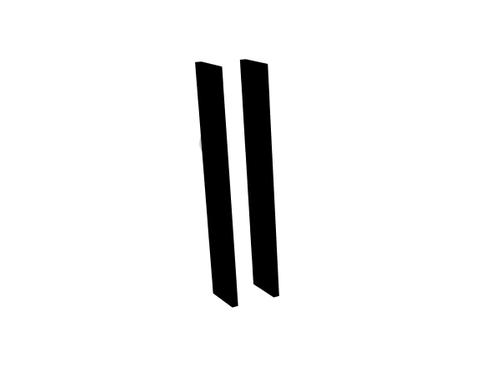 Blinq Tutto set zijpanelen voor spiegelkast 13x74 mat zwart