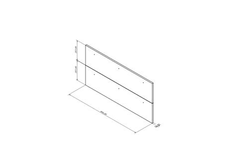 Blinq Tutto frontenset voor grepen 100x26 hoogglans wit