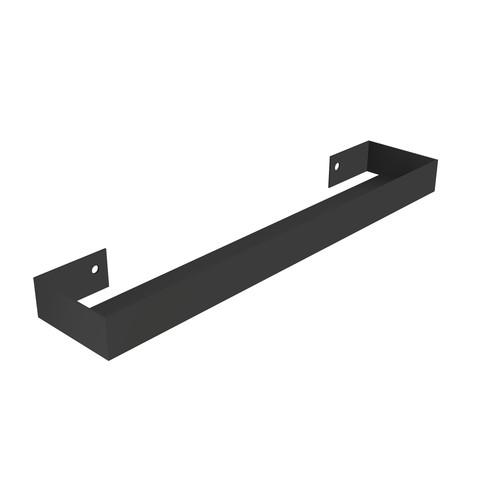 Blinq Tutto spiegelplanchet staal 100 cm 100x13x5 mat zwart