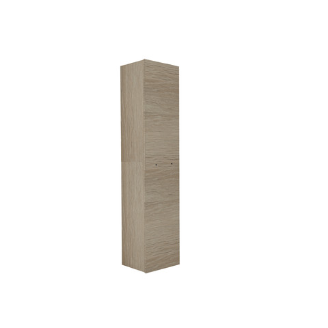 Blinq Tutto hoge kast v/greep 1 deur 169x35 eiken