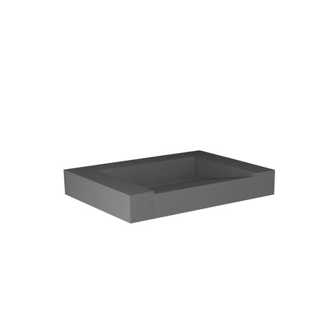 Blinq Tutto meubelwastafel zonder kraangat 60x45 quartz beton