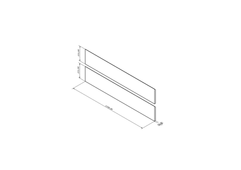 Blinq Tutto frontenset zonder greep 120x22 antraciet