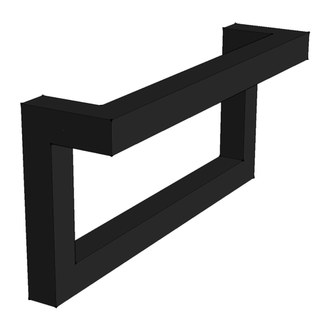 Blinq Tutto fonteinconsole l model links 20 mat zwart