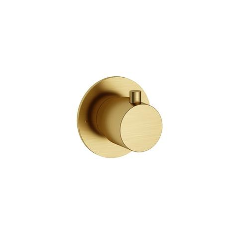 Hotbath Cobber CB010 afbouwdeel stopkraan cold geborsteld messing PVD