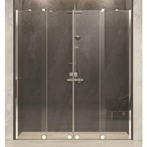 Blinq Tutto 2-delige schuifdeur met 2 segm.200-240x200 cm. hoogglans-timeless