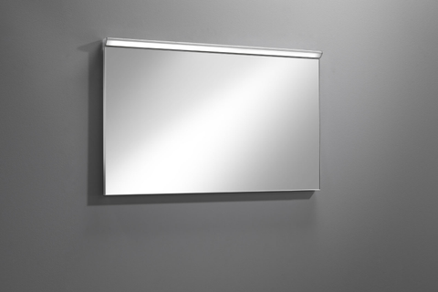 Blinq Tutto spiegel 120x60 cm. met led verlichting en dimmer zilver