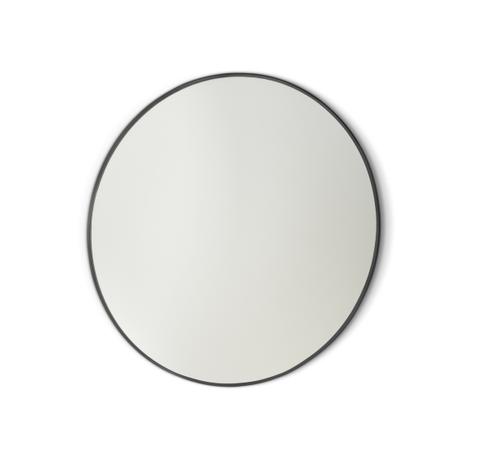 Blinq Tutto spiegel rond 100 cm. mat zwart