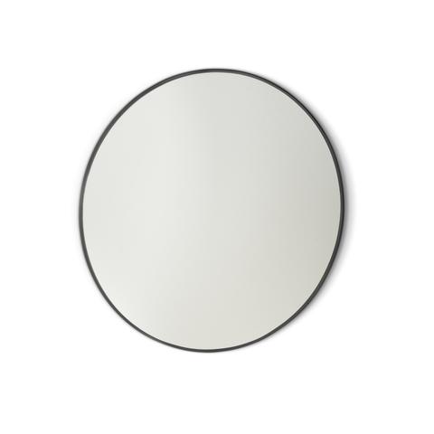 Blinq Tutto spiegel rond 40 cm. mat zwart