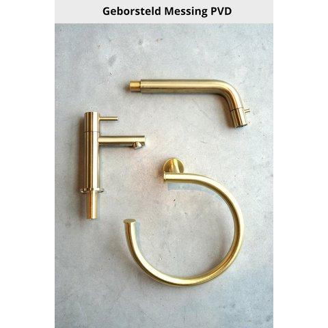Hotbath Cobber PB050EXT afbouwdeel voor inbouw thermostaat met 3 pushbuttons geborsteld messing PVD