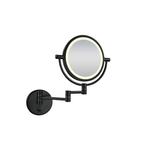 Wiesbaden Home scheerspiegel wandmodel LED verlichting mat zwart