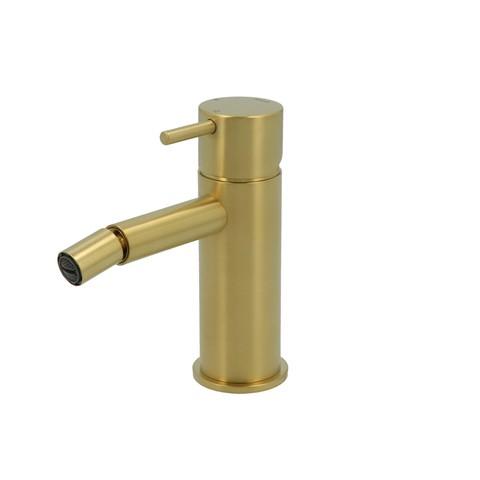 Hotbath Cobber CB018 bidetmengkraan zonder waste geborsteld messing PVD
