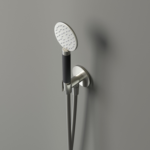 Hotbath Cobber M442 handdouche set rond met watertoevoer mat wit