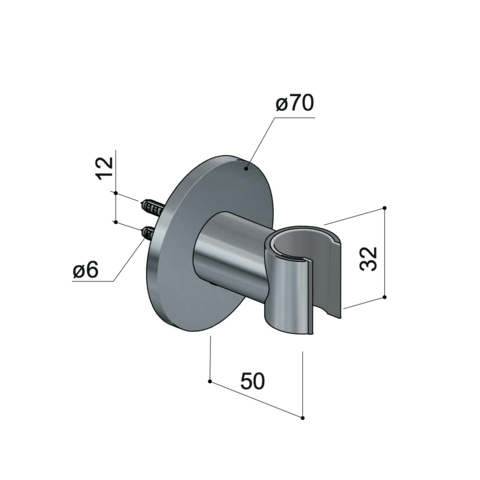Hotbath Cobber M514 wandsteun geborsteld koper