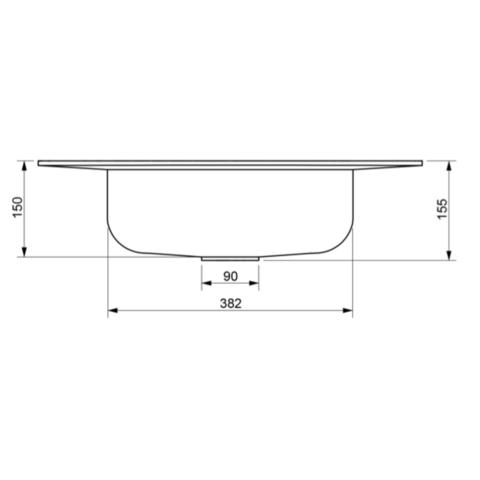 Ideavit Solidcap 3.0 opzetwastafel 60x45cm mat wit