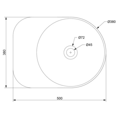 Ideavit Solidcap 6.0 opzetwastafel 50x38cm mat wit