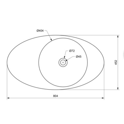 Ideavit Solidcap 8.0 opzetwastafel 80x45cm mat wit