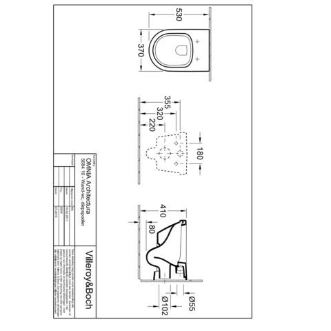 Villeroy & Boch Omnia Architectura wandcloset met closetzitting softclose/quickreleas wit