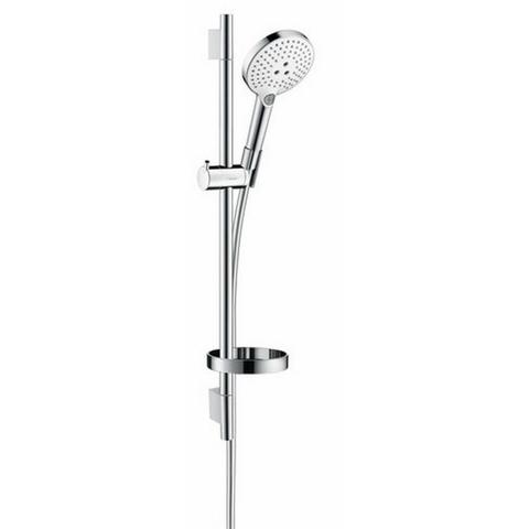 Hansgrohe Raindance Select S120 glijstangset 65cm wit-chroom