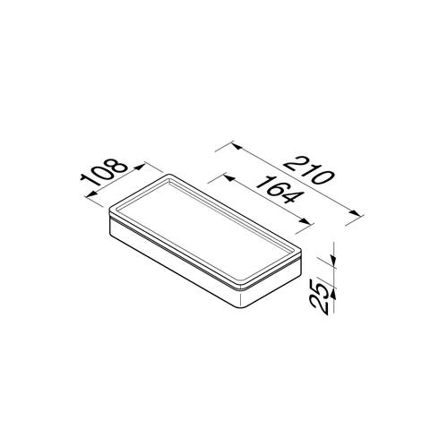 Geesa Frame universeel planchet met witte inzet chroom
