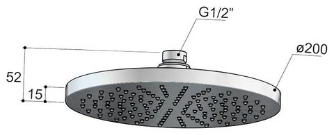 Hotbath Cobber M441C hoofddouche 20 cm met plafondbuis 30 cm chroom