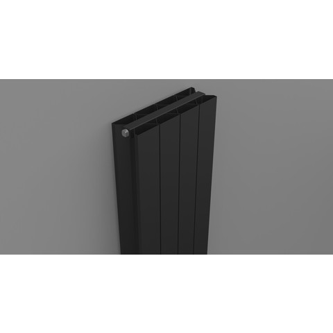 Thermrad AluStyle Plus designradiator 183,3 x 24 cm (H x L) zwart