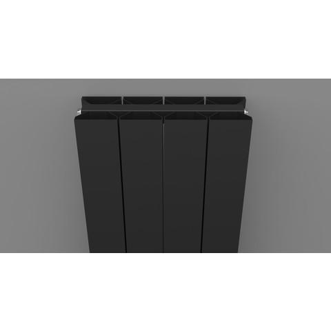 Thermrad AluStyle Plus designradiator 183,3 x 40 cm (H x L) zwart