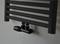 Wiesbaden Riko thermostatisch onderblok haaks-links mat zwart mat zwarte knop