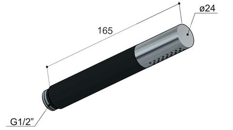 Hotbath Cobber IBS 20A inbouw doucheset - geborsteld nikkel - met staafhanddouche - 20cm hoofddouche - met plafondbuis 30cm - glijstang met uitlaat