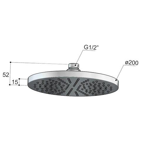 Hotbath Cobber IBS 21 inbouw doucheset - chroom - met staafhanddouche - 20cm hoofddouche - met plafondbuis 15 cm - glijstang met uitlaat