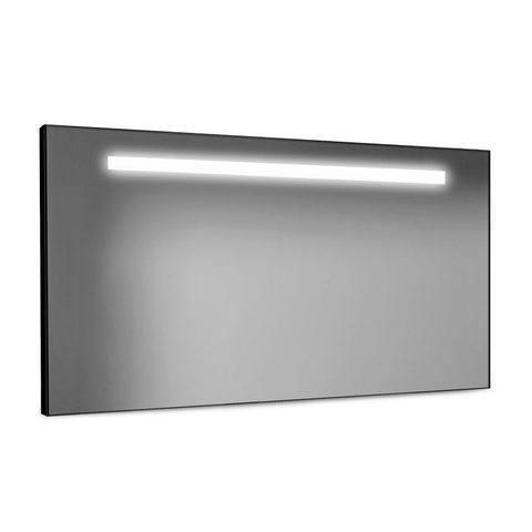 Looox Black Line spiegel  met led verlichting 100x60 cm. zwart
