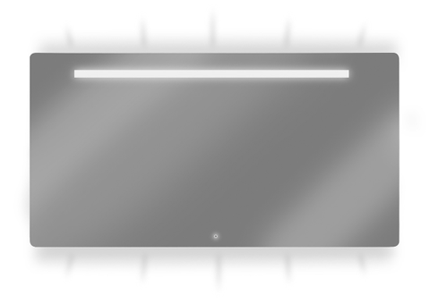 Looox Ml-Line spiegel 100x70 led verl.onder+boven+geintegreerd
