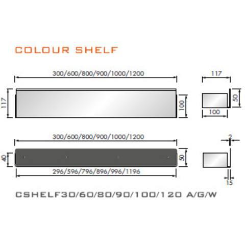 Looox Shelf inbouw planchet 30 x 10 cm. antraciet
