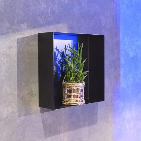Looox Colour Box inbouwnis 30x30 cm. mat zwart