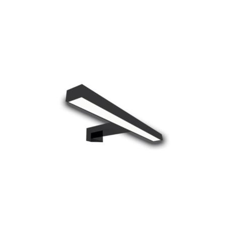 Riverdale Tubo opbouw led lamp tbv spiegel op alu frame - mat zwart 300x30mm (bxd)