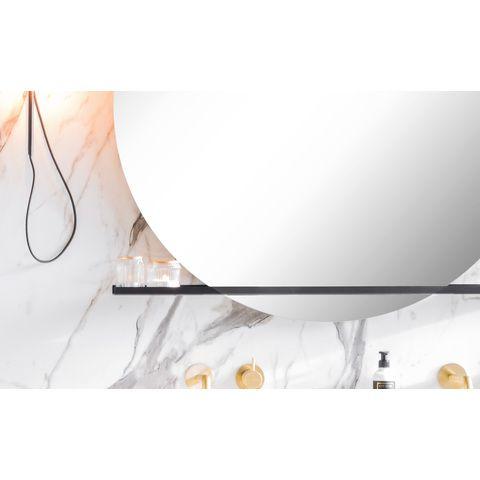 Riverdale Stalen planchet tbv ronde spiegel 70x10 mat zwart