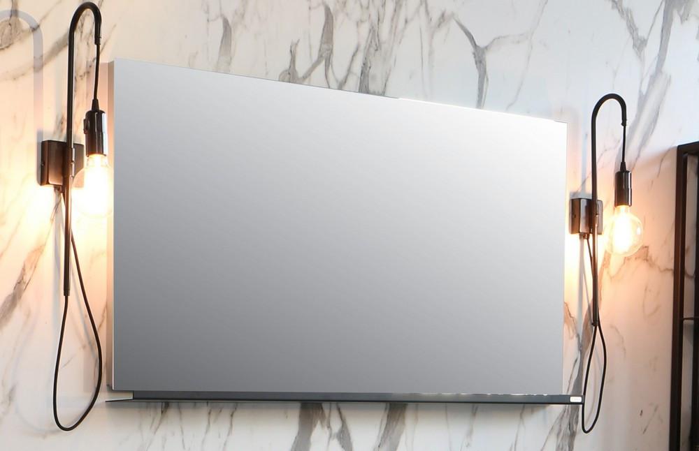 Riverdale spiegel rechthoek op alu frame - alu 700x30mm (bxd)