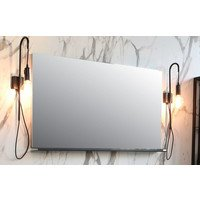 Riverdale spiegel rechthoek 100 x 60 cm op alu frame (zonder planchet)