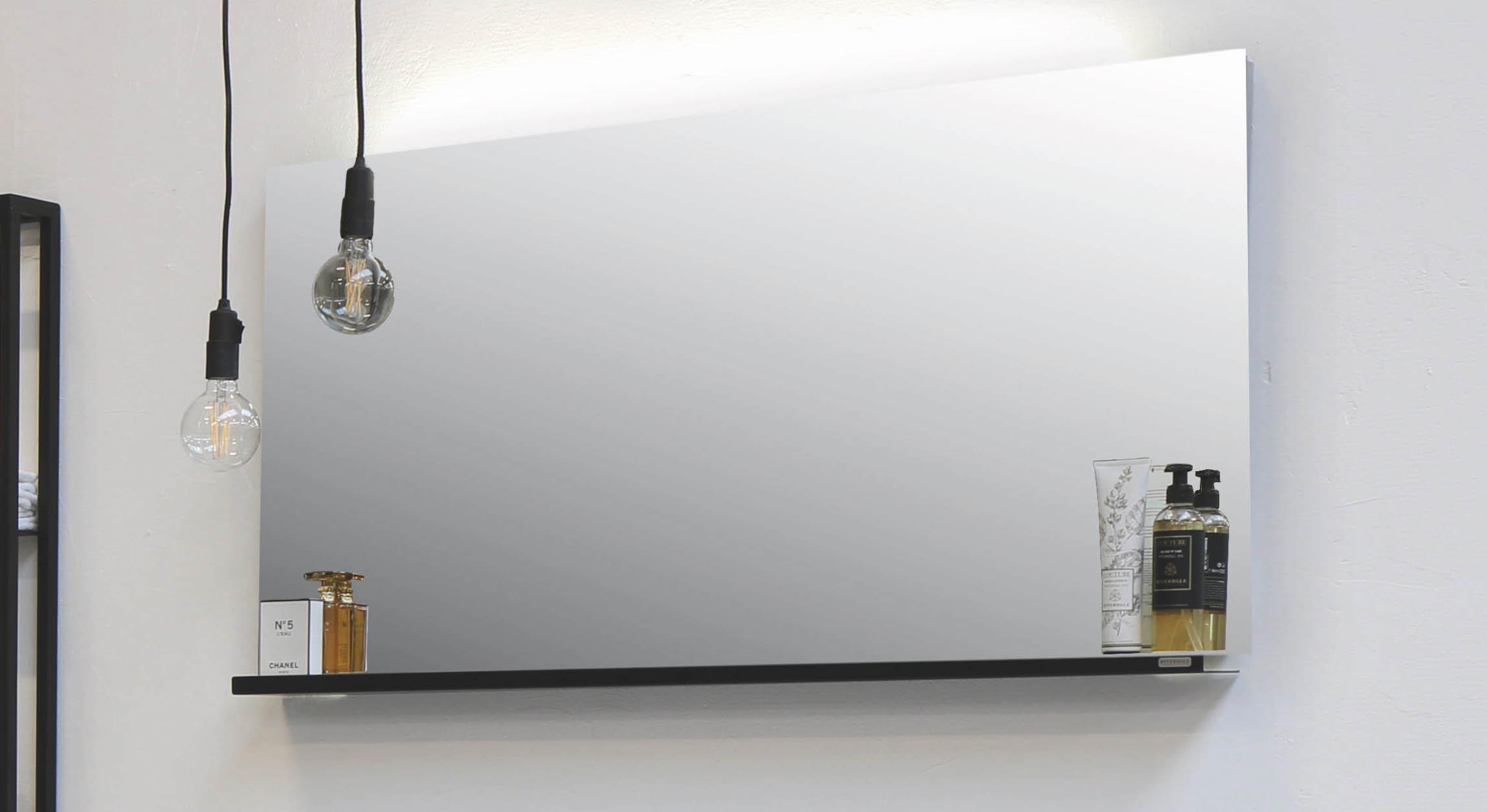 Riverdale spiegel met indirecte led boven- en onderverlichting - alu 1200x30mm (bxd)