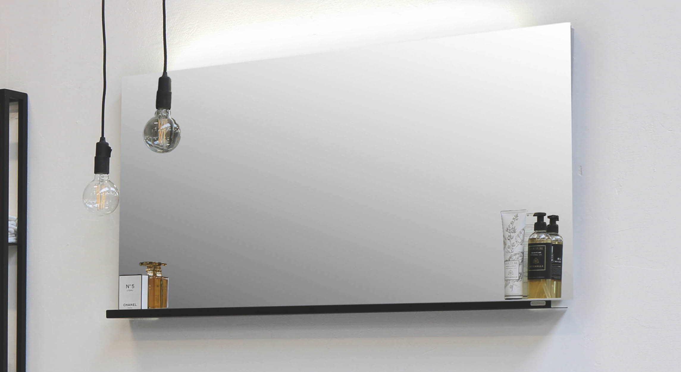 Riverdale spiegel met indirecte led boven- en onderverlichting - alu 1400x30mm (bxd)