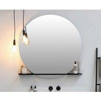 Riverdale spiegel rond 100cm op alu frame - met indirecte led rondom en touch schakelaar (zonder planchet)