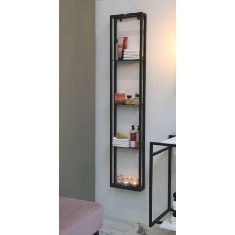 Riverdale stalen frame vrij op te hangen - mat zwart 100x320mm (bxd)