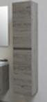 Riverdale Hoge Kast Greeploos Hout Decor 2 Deuren Met Rechte Fronten Incl 4 Glazen Planchettes Zilver Eiken 350x350mm Bxd